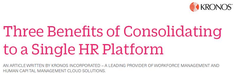HR single platform