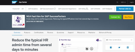 Fast Hire for SAP SuccessFactors