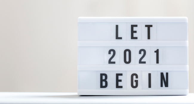Move over 2020, let's look forward to 2021!